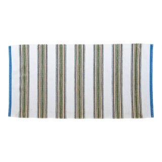 """New Handwoven Reversible Swedish Rug by Scandinavian Made 96"""" x 51"""" For Sale"""