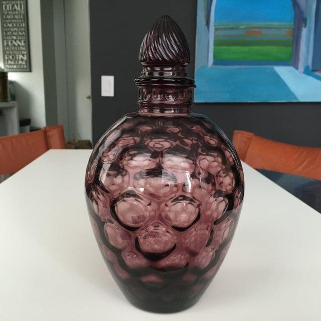 Amethyst Purple Mid-Century Lidded Vase - Image 2 of 6