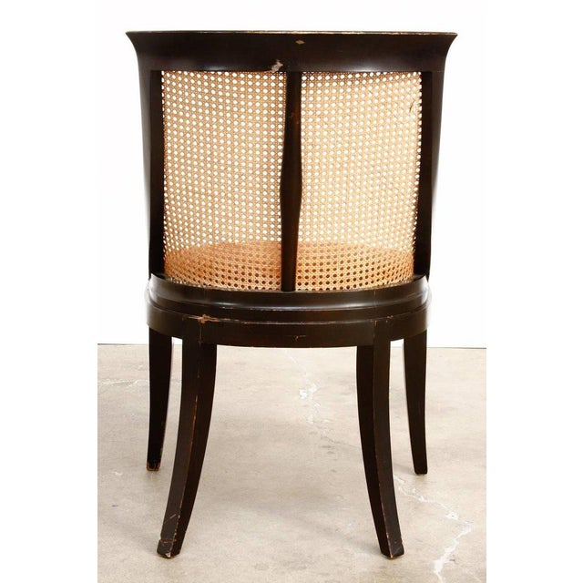 James Mont Style Ebonized Dining Chairs - Set of 4 For Sale - Image 9 of 13