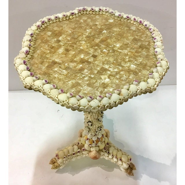 Currey & Company Currey & Co. Waterbury Shell Side Table For Sale - Image 4 of 5
