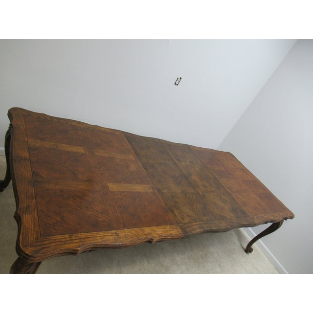 Vintage Century Furniture Country French Oak DiningTable For Sale - Image 9 of 13
