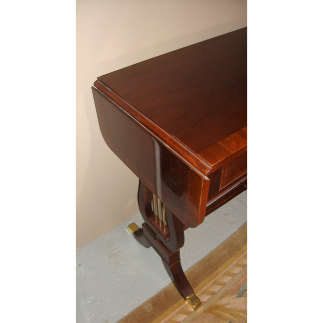 Baker Furniture Company Mahogany Sofa Table - Image 10 of 10