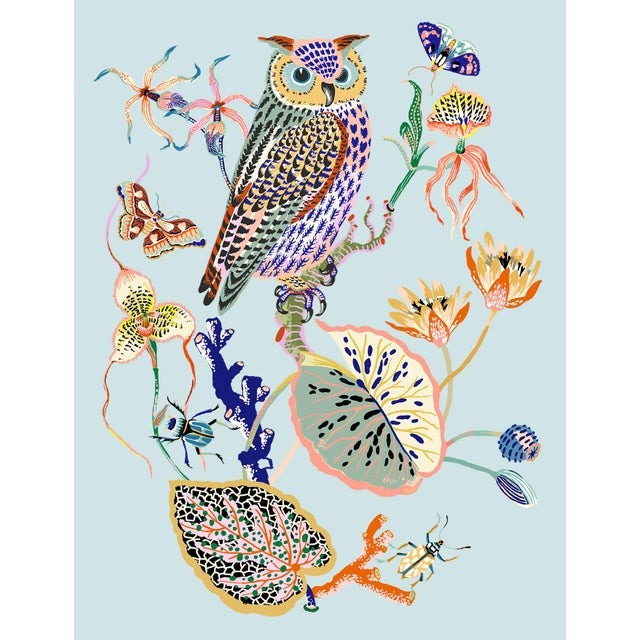 Wondergarden Owl Limited Edition Giclee Print by Sarah Gordon For Sale