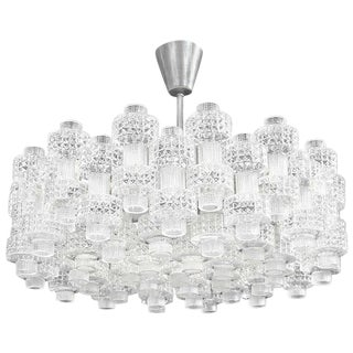 Carl Fagerlund for Orrefors Glass Chandelier For Sale