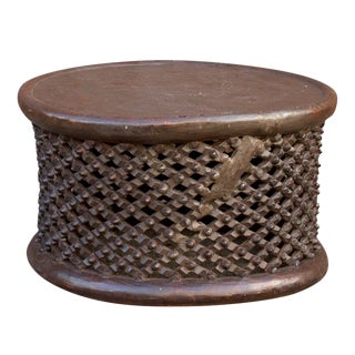 African Bamileke Tribal Carved Table For Sale