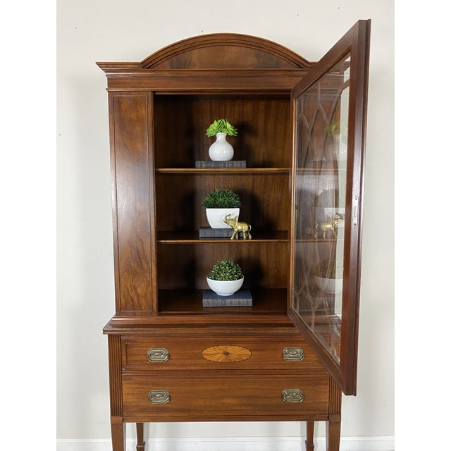 1950s 1950s Vintage Federal Style Cabinet For Sale - Image 5 of 12