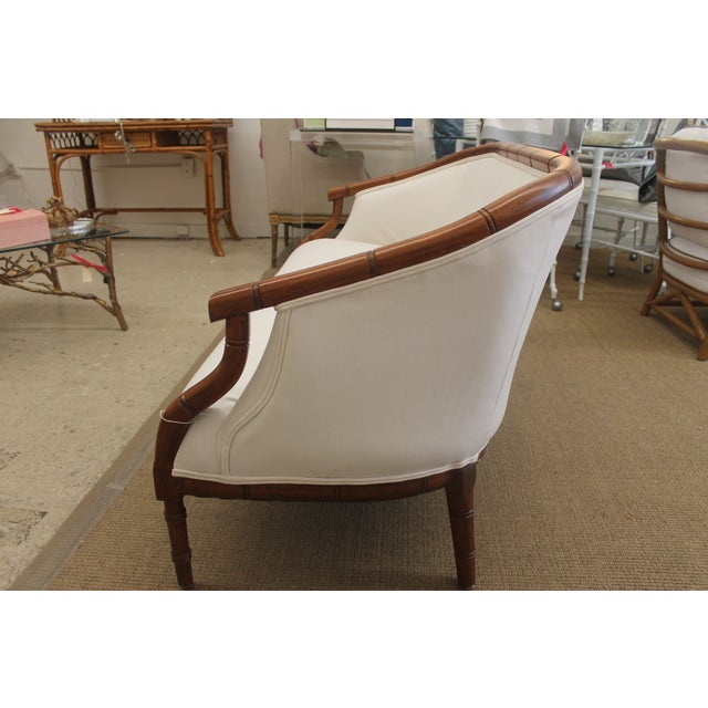 Vintage Bamboo Settee - Image 4 of 8