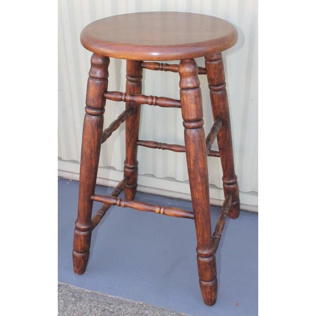 1940s Set of Four Matching Bar Stools For Sale - Image 5 of 10