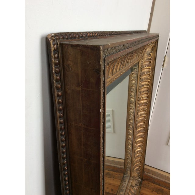 Antique Framed Carved Wood Mirror | Chairish
