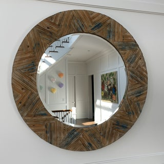 Reclaimed Wood Round Mirror Preview