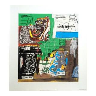 "Jean Michel Basquiat Estate Fine Art Lithograph Pop Art Print "" Sienna "" 1984 For Sale"