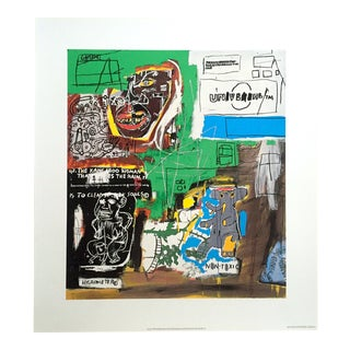"Jean Michel Basquiat Original Pop Art Lithograph Print "" Sienna "" 1984 For Sale"