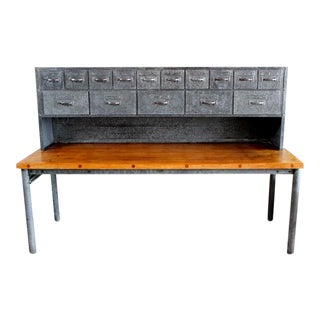 1960s Industrial Style Baker Pastry Table For Sale