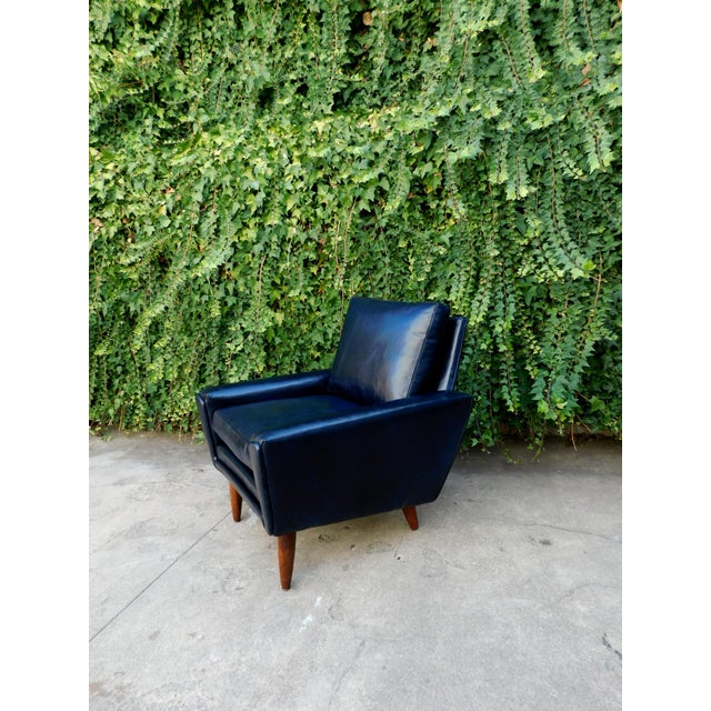 Mid-Century Leather Chair For Sale - Image 4 of 8