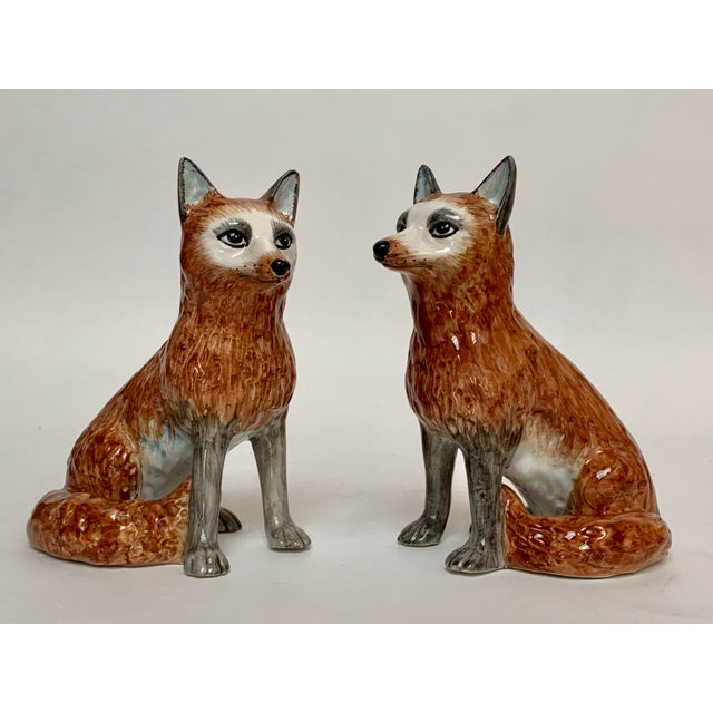 Italian Ceramic Fox Bookends – a Pair For Sale - Image 12 of 12