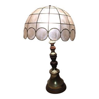 Vintage Capiz Shell Lamp For Sale