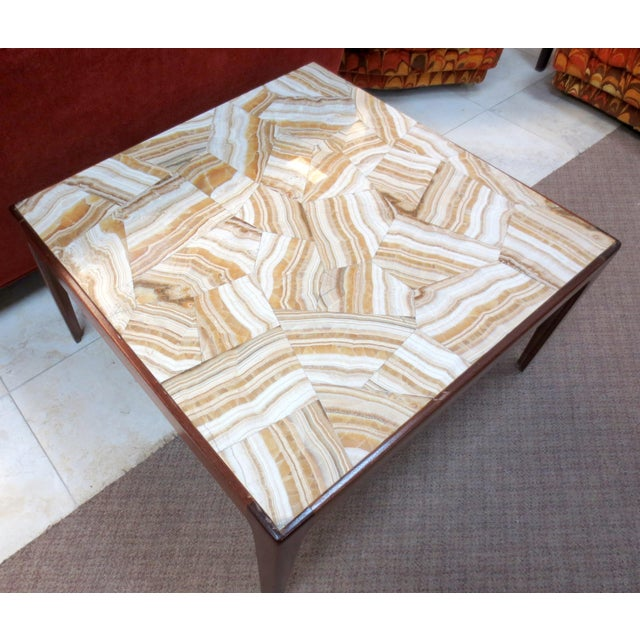 Ed Wormley Dunbar Travertine Coffee Table - Image 4 of 9