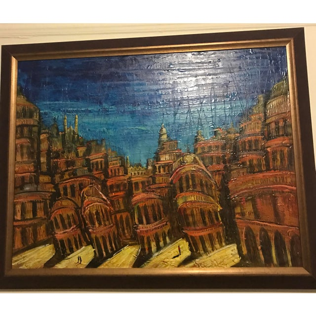 Contemporary Custom Framed Cuban Oil Painting For Sale - Image 3 of 3