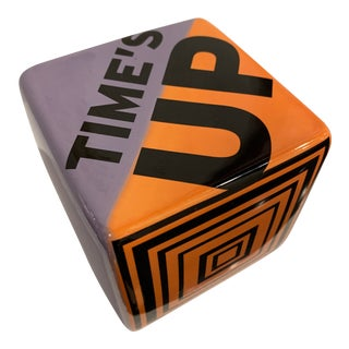 Time's Up Ceramic Wall Sculpture For Sale