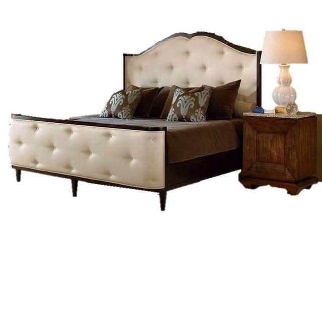 Cream Century Furniture Omni Queen Bedframe For Sale - Image 8 of 9