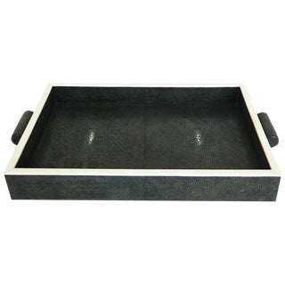 Authentic Shagreen Rectangle Tray For Sale