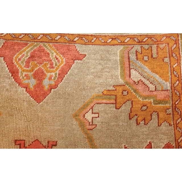 Antique Turkish Oushak Square Rug - 3′10″ × 4′ For Sale In New York - Image 6 of 10