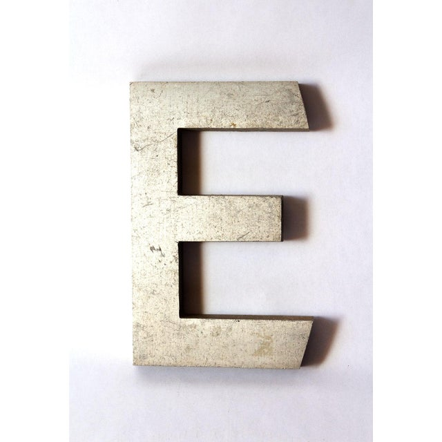 Mid 20th Century Industrial Salvage Small Letter E For Sale - Image 5 of 5