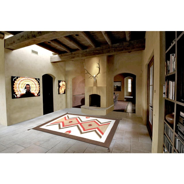 "Navajo Decorative Hand-Woven Rug - 5'1"" X 6'11"" - Image 3 of 3"