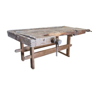 19th Century Primitive Workbench For Sale