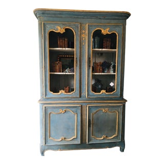 Antique French Blue Hutch For Sale