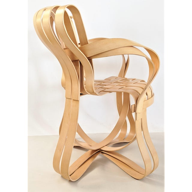 Wood Frank Gehry for Knoll Cross Check Chair Maple Wood With Arms - a Pair For Sale - Image 7 of 13