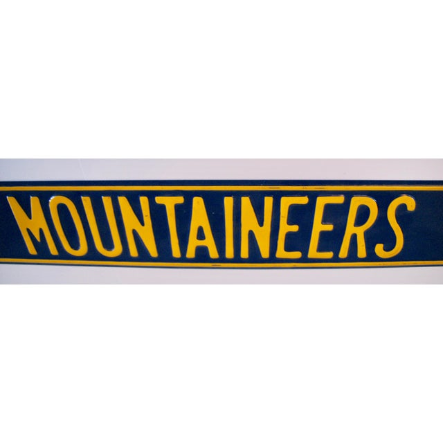 West Virginia University Street Sign For Sale - Image 4 of 7