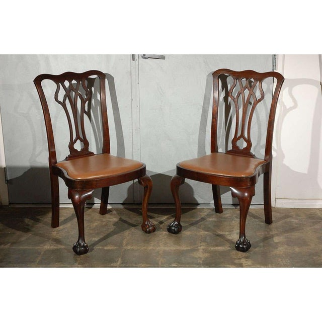 Chippendale Style Side Chairs - Set of 6 - Image 5 of 8