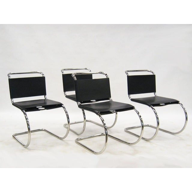 Industrial Ludwig Mies van der Rohe MR chairs by Knoll For Sale - Image 3 of 8