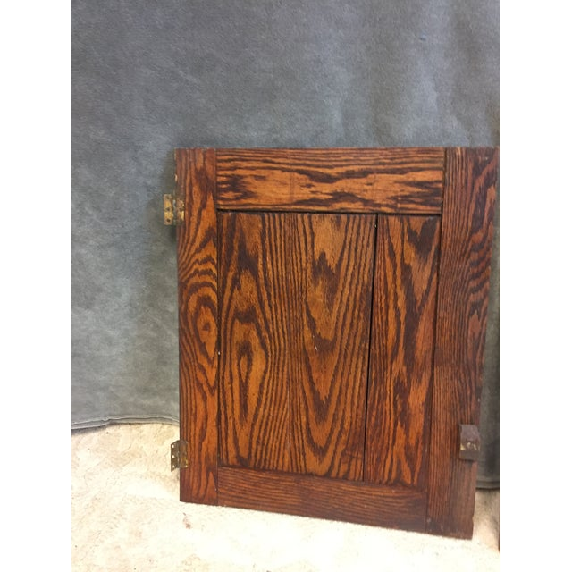 Vintage Rustic Wood Cabinet Doors - A Pair For Sale - Image 6 of 11