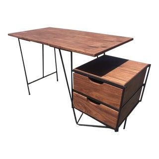 Vista of California Rod Iron Walnut Desk