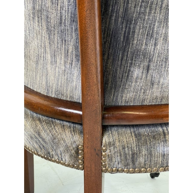 Art Deco Armchair of Mahogany, Circa 1940s For Sale - Image 10 of 13