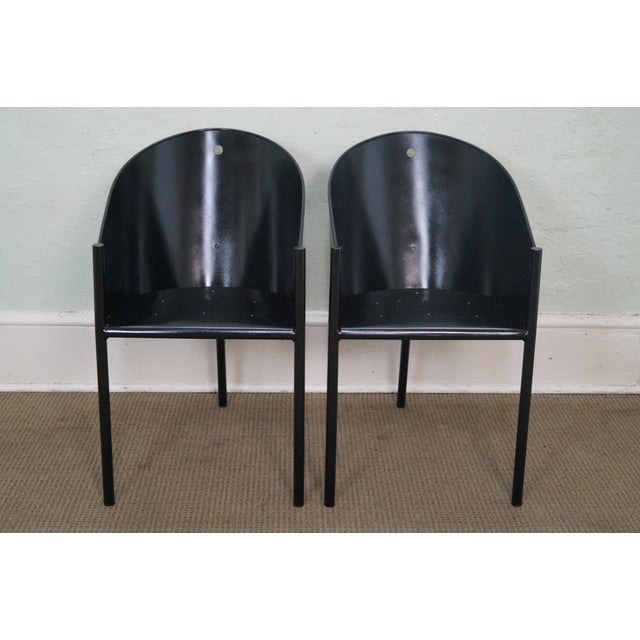 Philippe Starck Aleph Black Metal Chairs - A Pair - Image 2 of 9