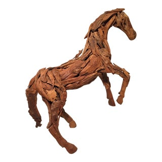 """""""Equus"""" Teak Driftwood and Iron Nails Sculpture Attributed to Deborah Butterfield For Sale"""