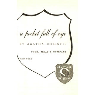 """1953 """"A Pocket Full of Rye"""" Collectible Book Preview"""