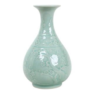 Clear Glazed Celaden Porcelain Vase For Sale