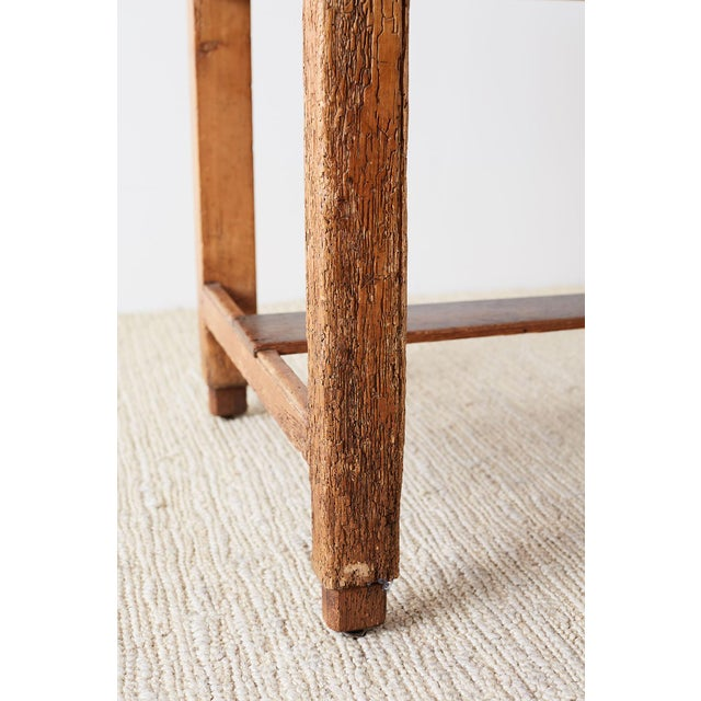 Rustic English Pine Library Table or Farm Table For Sale - Image 10 of 13