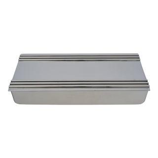 Vintage American Art Deco 1930s Kensington Box Aluminum For Sale