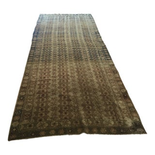 Turkish Vintage Large Runner Rug - 4′3″ × 13′7″ For Sale