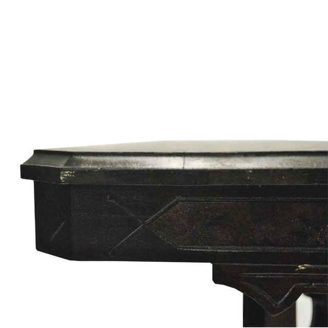 Exceptional Antique Eastlake Victorian Heavily Carved Walnut Parlor Side Table - Image 8 of 9