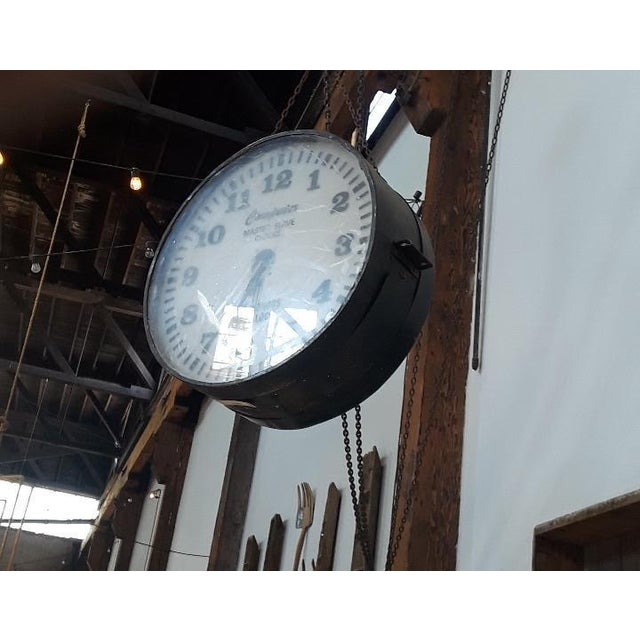 Big Daddy's Antiques presents a Vintage clock. This clock was part of Master/Slave network. Large offices and factory...