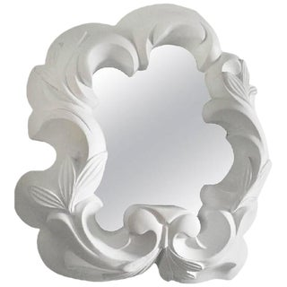 1940s French Plaster Mirror For Sale
