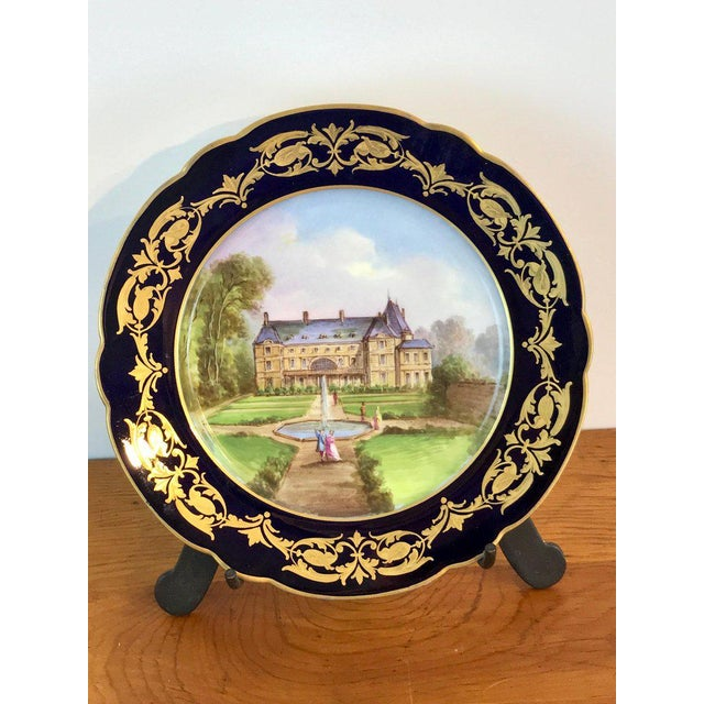 Louis XVI Pair of Sevres Chateau Plates For Sale - Image 3 of 13