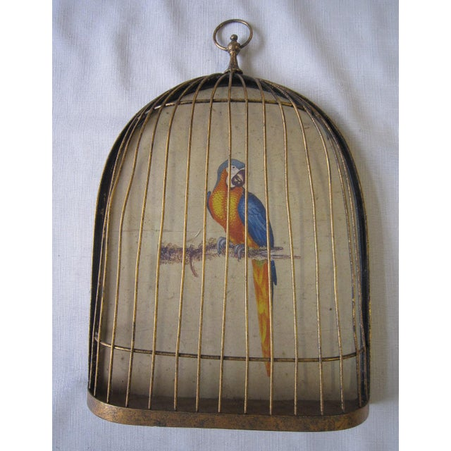 Italian Gilt Cage Hanging For Sale - Image 4 of 4