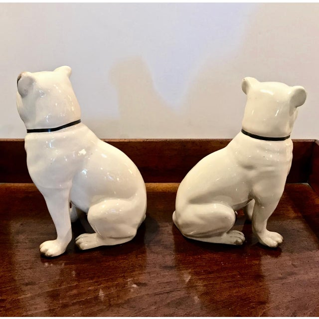 Pair Staffordshire 19th C. Pugs For Sale In Los Angeles - Image 6 of 12